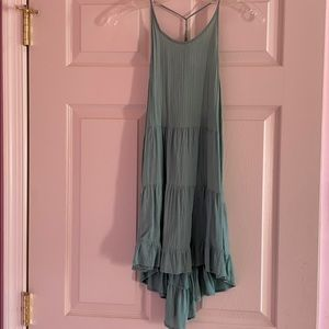 Sea green halter dress